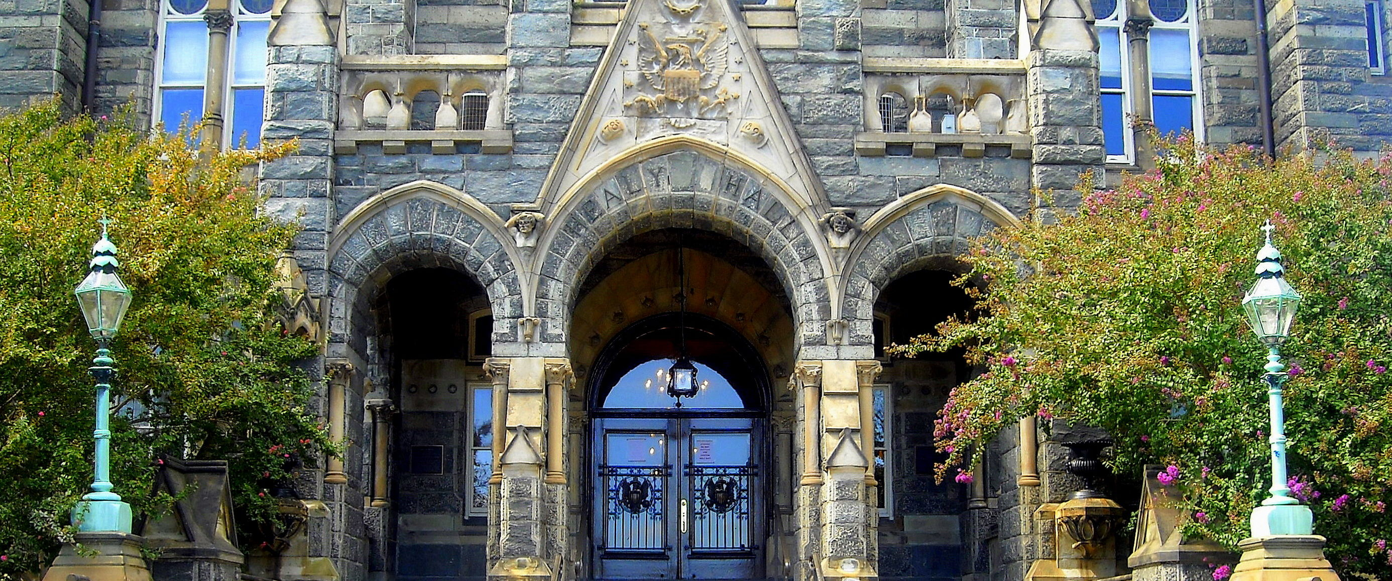 Entrance to Healy Hall